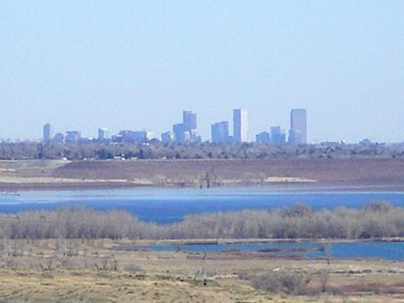 View of Denver from Ravenna in Littleton